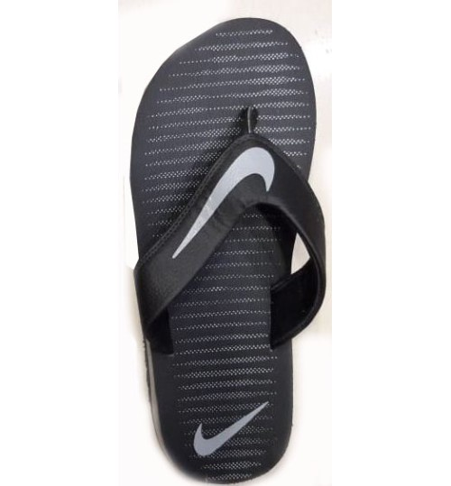 info for 09b3f 3c50b Nike Slippers with Grey Tick