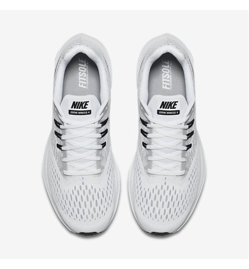 finest selection 2f6fb ce488 Nike Zoom Winflo 4 White Running Shoes