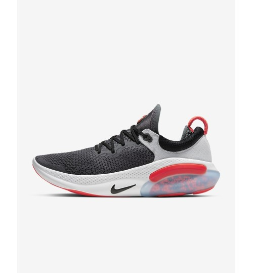 Nike Joyride Run Flyknit Men's Running Shoe Dark Grey/Pure Platinum/Anthracite/Bright Crimson