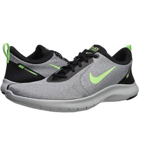 Nike Men's Flex Experience Run 8 Sneaker Cool Grey/Lime Blast-black-pure Platinum