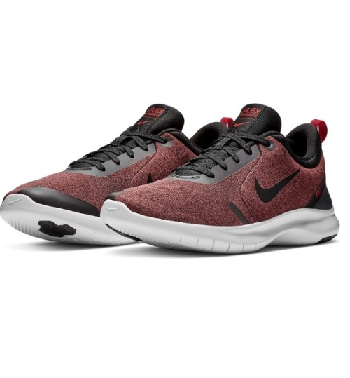 Nike Men's Flex Experience Run 8 Sneaker Black/Black-university Red-white