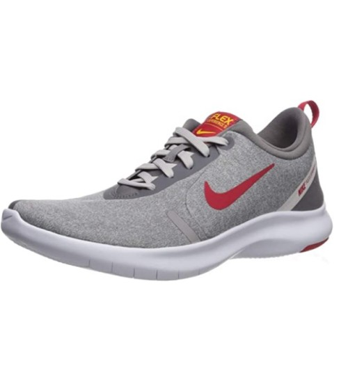 Nike Men's Flex Experience Run 8 Sneaker Gun Smoke/University Red - Vast Grey