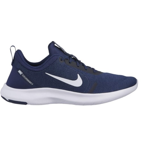 Nike Men's Flex Experience Run 8 Sneaker Midnight Navy/White/Monsoon Blue