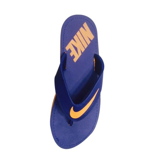 Nike Slippers Blue Orange