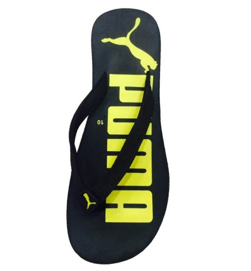 Puma Black Lemon Flip Flops