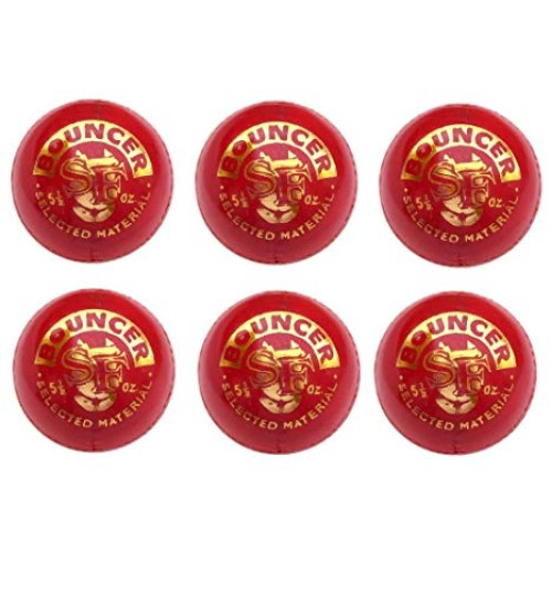 Stanford Bouncer Red Cricket Ball 6 Ball Set
