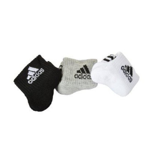 Adidas Unisex Ankle Grip Socks - 3 pack