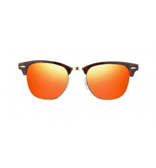 RayBan Clubmaster Flash Lenses - Orange, RB3016